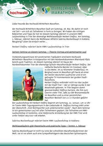 Januar 2011 - Mittelrhein Marathon