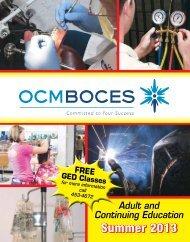 Summer 2013 Brochure - OCM Boces