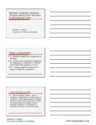 Strategic Vocabulary Selection - TextProject