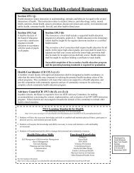 New York State Health-related Requirements - OCM Boces