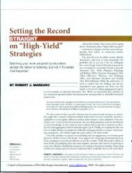 "Setting the Record Straight on ""High-Yield"" Strategies - OCM Boces"