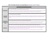 New York State Student Learning Objective Template - OCM Boces