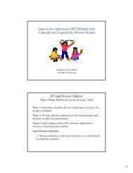 RTI and Diverse Children - OCM Boces