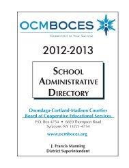 SCHOOL ADMINISTRATIVE DIRECTORY - OCM Boces