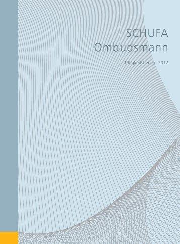 PDF, 3.4 MB - SCHUFA Verbraucherbeirat und Ombudsmann