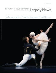 Pinnacle Campaign Final Report - San Francisco Ballet