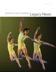 Winter 2012 - Ensuring the Future of Dance - San Francisco Ballet