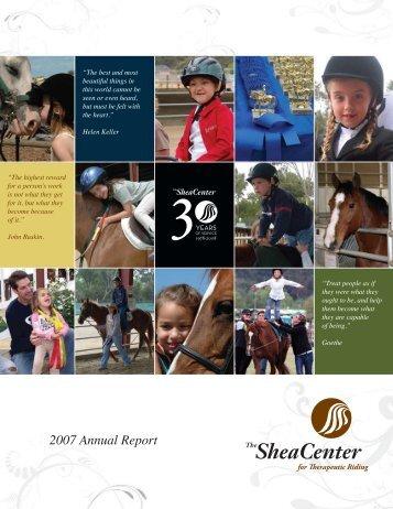 2007 Annual Report - The Shea Center