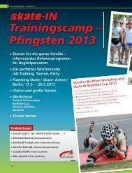 Trainingscamp – Pfingsten 2013 - skate-IN Magazin