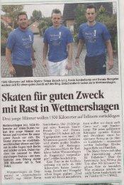Skaten für guten Zweck - Skateteam Gifhorn