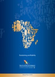 Sustaining profitability - South African Airways