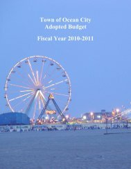 Town of Ocean City Adopted Budget Fiscal Year 2010-2011