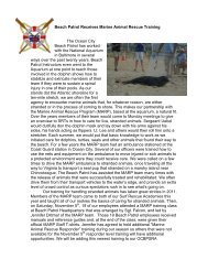 Beach Patrol Receives Marine Animal Rescue Training The Ocean ...