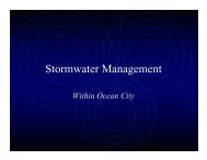 Stormwater Management - Town of Ocean City