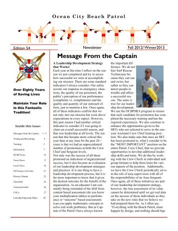 Download Entire Newsletter - Town of Ocean City