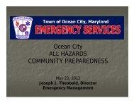 All Hazards Community Preparedness - Town of Ocean City