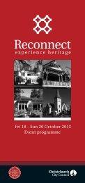 Event programme - Christchurch City Council