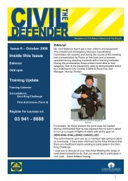 The Civil Defender - Issue 9 - October 2008 - Christchurch City Council