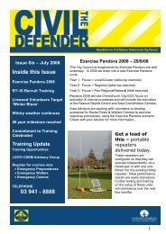 The Civil Defender Newsletter - July 2008 - Christchurch City Council