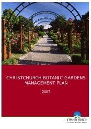 Christchurch Botanic Gardens Management Plan 2007