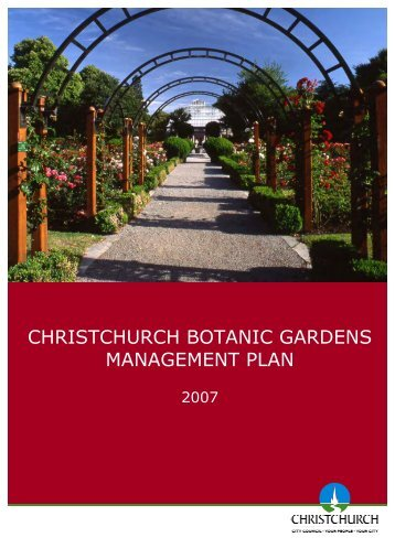 Christchurch Botanic Gardens Management Plan 2007