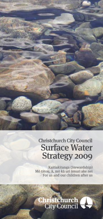 Surface Water Strategy 2009 - Christchurch City Council