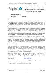 Construction Standard Specification - Christchurch City Council