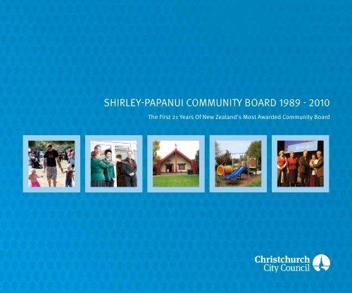 Shirley-Papanui Community Board 1989-2010 - Christchurch City ...