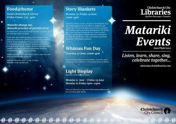 Download the Matariki events brochure [1.35MB PDF] - Christchurch ...