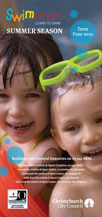 Swimsmart Learn to Swim Brochure - Christchurch City Council