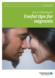 Useful tips for migrants - Christchurch City Council