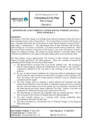 Operative Plan Change 5 - Christchurch City Council