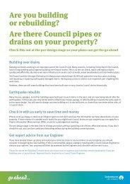 Building over drains - Christchurch City Council