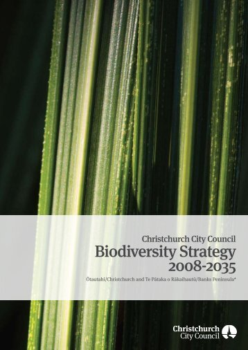 Biodiversity Strategy 2008-2035 - Christchurch City Council