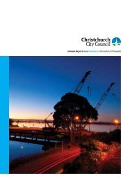 Annual Report 2011 Summary - Christchurch City Council