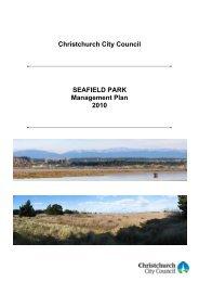 Seafield Park Management Plan - Christchurch City Council