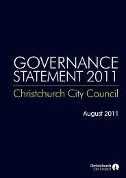 Governance Statement 2011 - Christchurch City Council