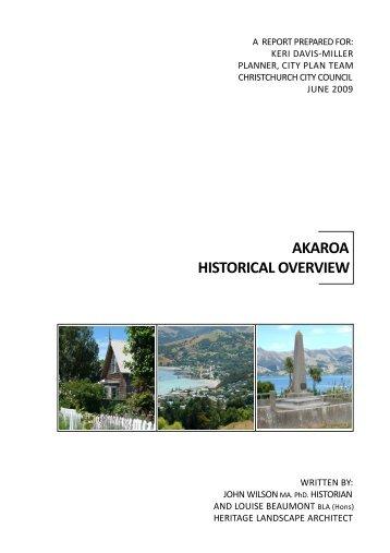 Akaroa Historical Overview - Christchurch City Council