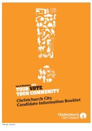 Candidate Information Booklet 2010 - Christchurch City Council