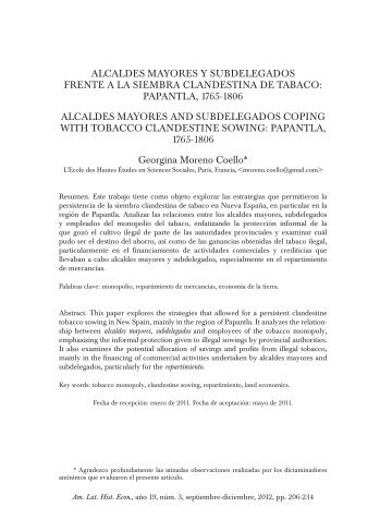 papantla, 1765-1806 alcaldes mayores and subdelegados - SciELO