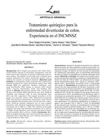 Tratamiento quirúrgico para la enfermedad diverticular de colon ...