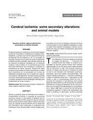 Cerebral ischemia: some secondary alterations ... - edigraphic.com