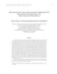 Reconstrucción del evento eruptivo asociado al emplazamiento del ...