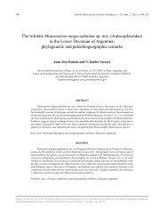 The trilobite Maurotarion megacephalum sp. nov ... - SciELO