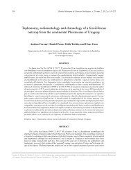 Taphonomy, sedimentology and chronology of a ... - SciELO