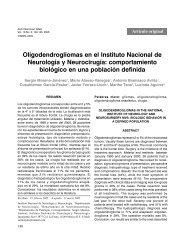 Oligodendrogliomas en el Instituto Nacional de Neurología ... - SciELO
