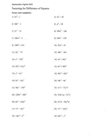 Find the value of a that makes ax2 20x 25 perfect square factoring polynomials worksheet