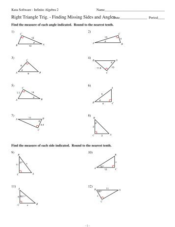 Right Triangle Trig Missing Sides and ...