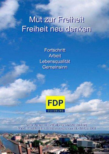 Kommunalwahlprogramm - FDP Duisburg