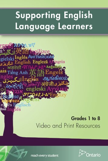 Supporting English Language Learners - Curriculum Services Canada